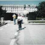 Me in front of Madrid's Palacio Real in 2002