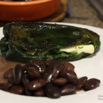 Chiles rellenos with panela cheese and epazote