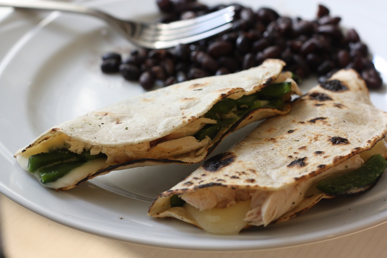 Crispy quesadillas with rajas, chicken and cheese - The Mija ...